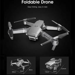 Drone e68 com 3 baterias, câmera 4k segundo a embalagem e a compra