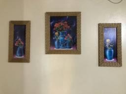 trio de quadro decorativo