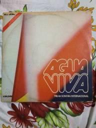Lp Trilha Novela Água Viva Internacional Disco De Vinil 1980