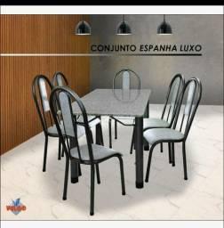 Conjunto Espanha Luxo - Granito, seis cadeiras