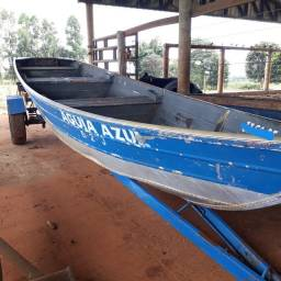 Barco em alumínio 6mt,  com carreta e motor 15 Yamaha