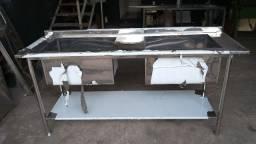 Pia e Tanque em Aço Inox