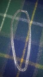 Corrente de prata trabalhada top de linha zerada