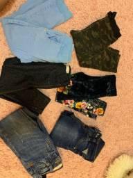 Lote de roupas ! 8 calças por 100