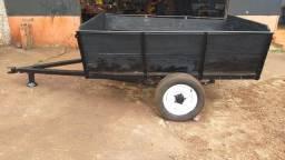 Carretinha agrícola de 1 eixo, usada