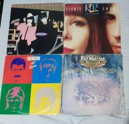 Lote de discos: Queen, Carpenters, Rita L. e Roberto, Guilherme A., Milton N. e Rick W