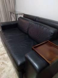 Sofá cama de couro