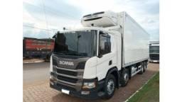 Scania p 320  2019 com báu refrigerado ThermoKing Termolog com serviço