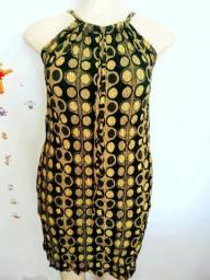 Kit vestido poliamida lihanet. (03) vestidos 99.00 frete grátis