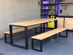 Mesa estilo industrial
