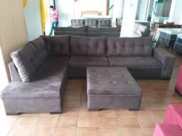 Sofa de Canto Atenas + Puff Tamanho 3,30 x 2,10