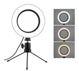 R$49,90 - Ring Light 6 Polegadas 16cm Usb Led Tripé Mesa Promoção