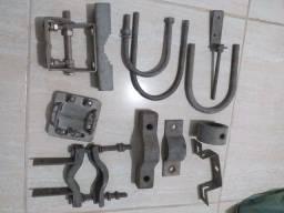 Diversas peças de ferro fundido