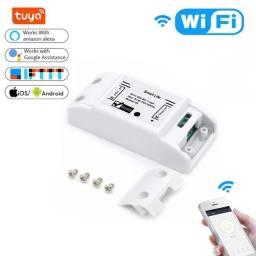Casa inteligente wifi interruptor remoto sem fio disjuntor domótico led módulo