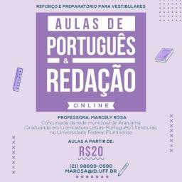 Aulas de Redação e/ou Português