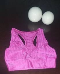 Top nadador cirrê alto relevo pink M