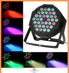 Canhão Refletor de Luz 36 Leds Rgb Bivolt Dmx Digital Slim