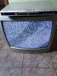 TV e DVD funcionando, Leia anúncio