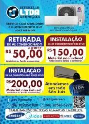 Instalação de Ar Condicionado R$150,00 - Ligue * watts