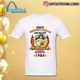 camisa personalizada tema aniversário