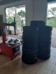 Título do anúncio: Borracharia 4 Rodas * Promoção de pneus novos aro.15  $295.00