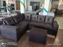 Sofa de Canto Dubai + Puff Tamanho 2,40 x 1,90