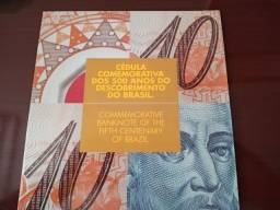Folder com cédula de 10 reais em polímero! Oferta!!!