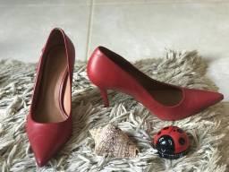 Sapato Scarpin vermelho super confortável