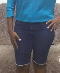 Bermudas jeans femenina