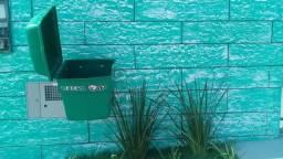 Lixeira de rua para calçada muro patio ciderin top 125 litros