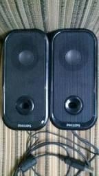 Caixa de som Speakers Philips USB p/ Pc Notebook