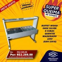 Buffet restaurante Woodnox Silver Quente 8 Cubas Madeirado 220v NOVO