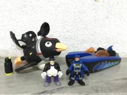 Submarino do Pinguim e Lancha do Batman imaginext