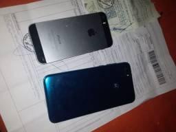 Moto E6 semi novo + iphone 5s usado