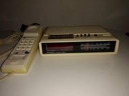 Rádio relógio telefone digital perfeito