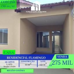 Casa De 3 Quartos - Residencial Flamingo - Goiânia