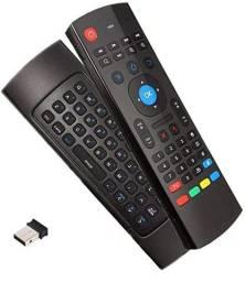 Teclado Wirelles Air Mouse Qwerty para TV e PC