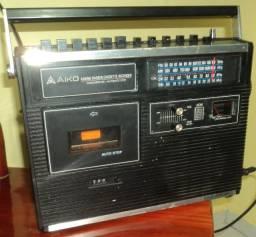 Radio e Gravador Antigo AIKO, 4 band, Radio & Cassette Recorder
