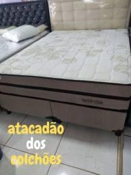 Conjunto,Colchão,Cama box Queen Size 158x198x30 Trumpo star(