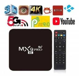 Tv Box Smart 4g + 64g Wifi 5g Quad Core 4k Android 10 + 30 dias liberados
