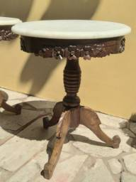 Mesas lateral em jacarandá antigas