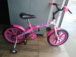 Bicicleta Infantil rosinha da Frozen aro 16