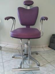 Cadeira Hidráulica Cabelereiro / Maquiador