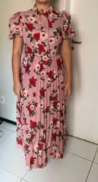 Vestido Rosa floral mide