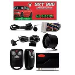 Alarme Carro Universal Sistec Sxt986 Com Sirene 2 Controles