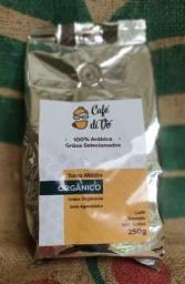 Café Orgânico 250g 100% Arábica [Em Grãos ou Moído]