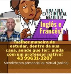 Título do anúncio: Aqui é inglês e Francês nativo!