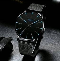 Relógio Masculino Minimalista De Aço Inoxidável