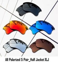 5 pares de lentes Half Jacket XLJ_Polarizadas