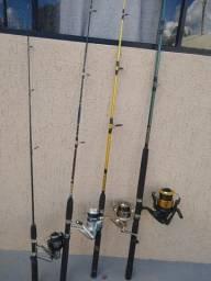 Varas para Pesca e Molinetes com Linha